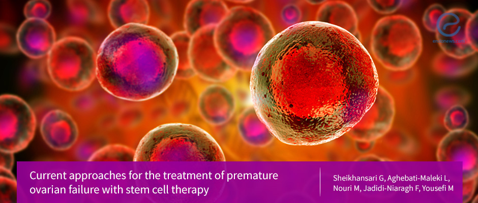 Stem cell therapy for the premature ovarian failure