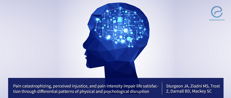Pain catastrophizing, perceived injustice, and pain intensity impair life satisfaction