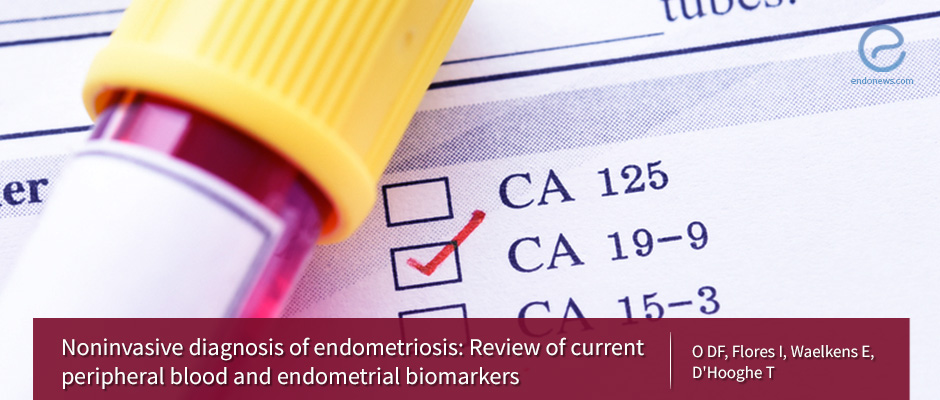 Detecting endometriosis using peripheral blood