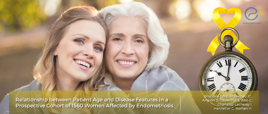 Endometriosis features vs Patient age